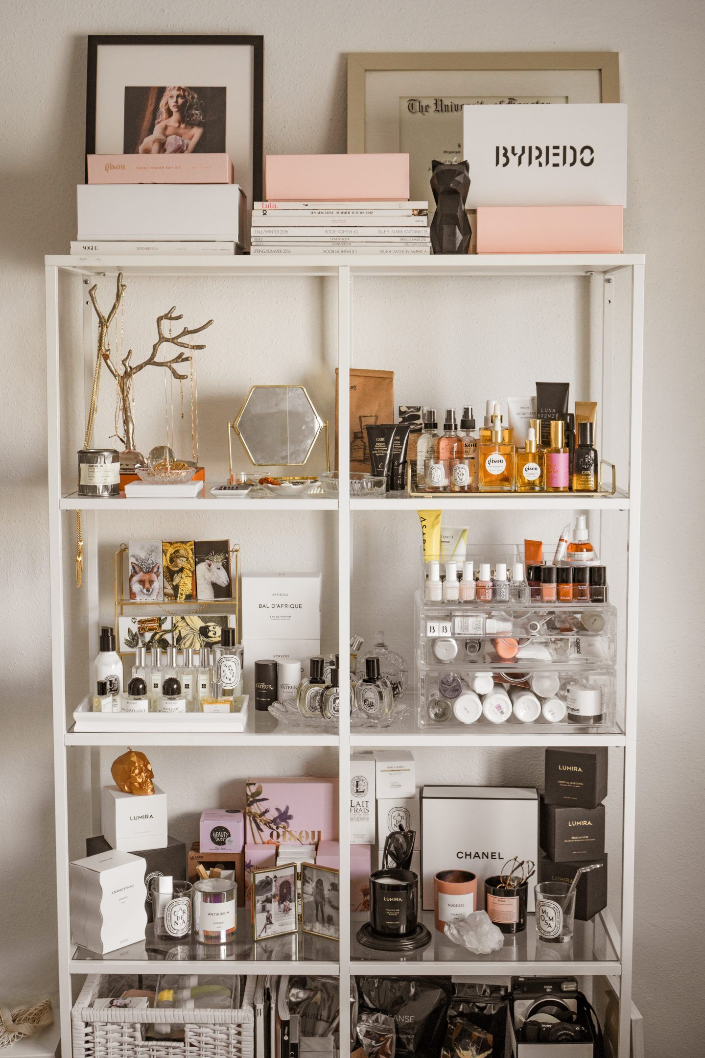 Look - Diy storage makeup pinterest video
