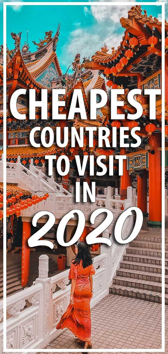We always love finding the cheapest, best value destinations to visit and want to share that with you! So here are the cheapest countries to visit in 2020! You will love these cheap travel destinations PLUS some budget travel tips, cheap travel hacks and general tips for saving money on your next trip.   #Cheaptravel #CheapTravelDestinations #BudgetTravel #Traveltips #TravelHacks #CheapTravelHacks #BudgetTraveltips