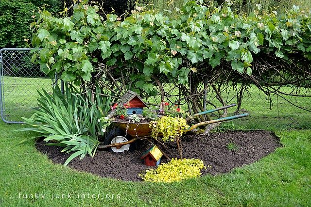 Wheel barrow planter | Yard stuff | Pinterest | Planters, Gardens ...