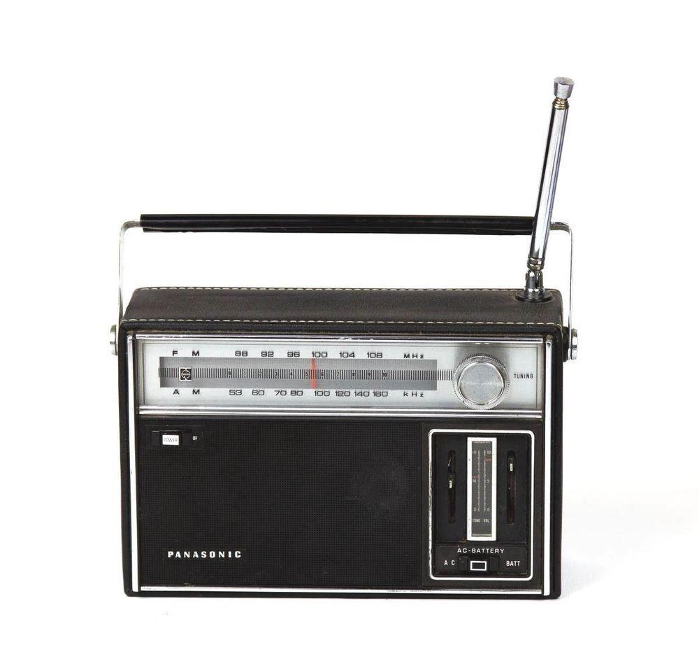 Vintage Panasonic Rf 930 Portable Fm Am Transistor Radio Japan 1968 Works Vgc Panasonic Transistor Radio Vintage Radio Radio