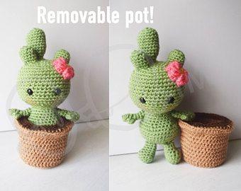 Amigurumi Cactus Tejido A Crochet Regalo Original : Iniciación al amigurumi un cactus muy fácil