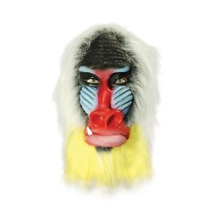 Rubber Overhead Mask Rafiki Fancy Dress Baboon