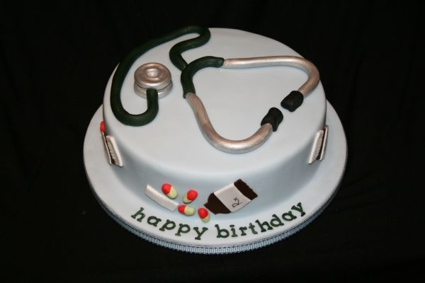 Astounding Doctor Cake With Images Doctor Cake Doctor Birthday Cake Birthday Cards Printable Trancafe Filternl