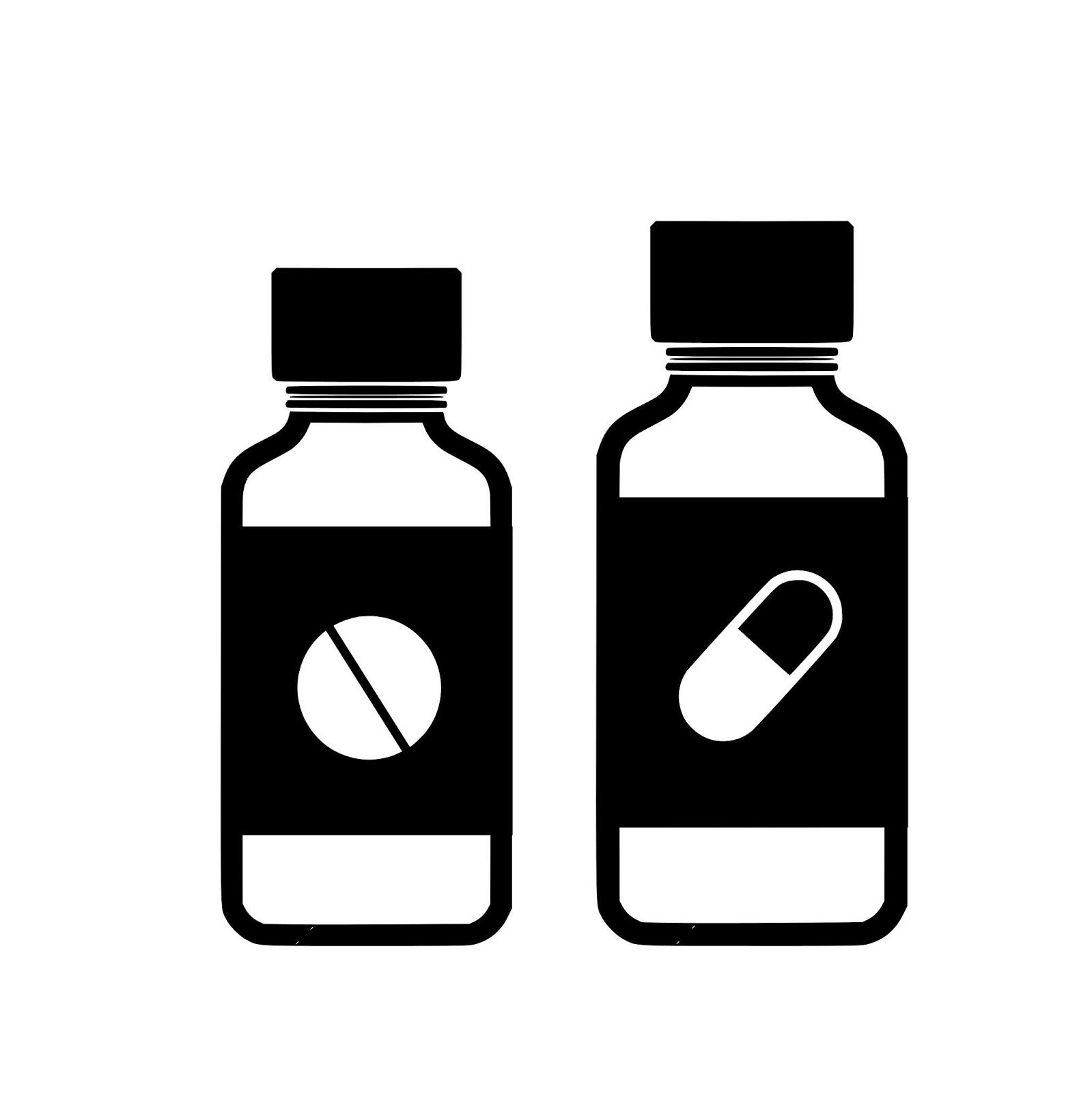 Download Free Images And Illustrations Silhouette Of Medicine Bottle Bottle Medicine Bottles Medicine
