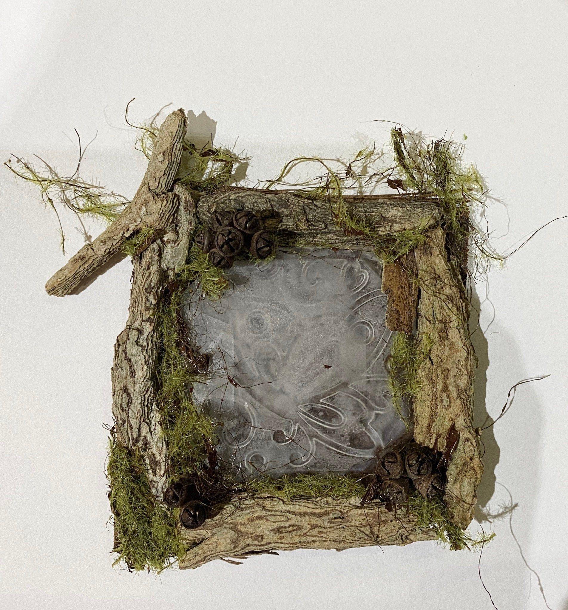 Fairy House Window-Fairy Garden, Miniature, Fairy Furniture, Indoor Garden, Twig furniture