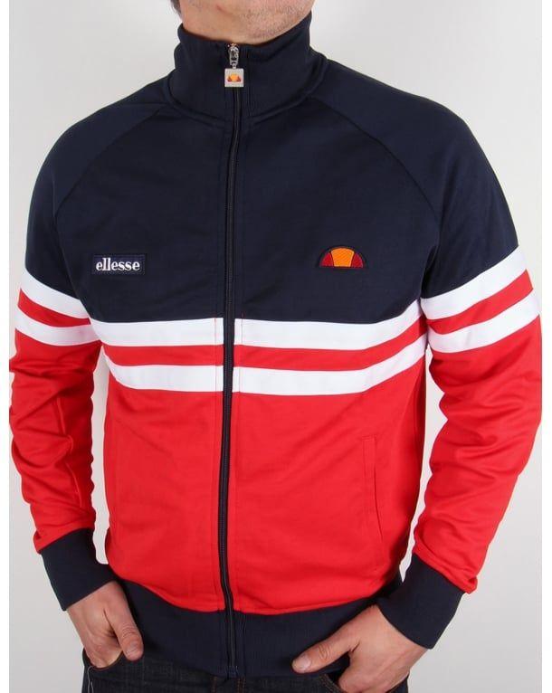 Ellesse Rimini Track Top Navy/Red/White - Ellesse Rimini Jacket