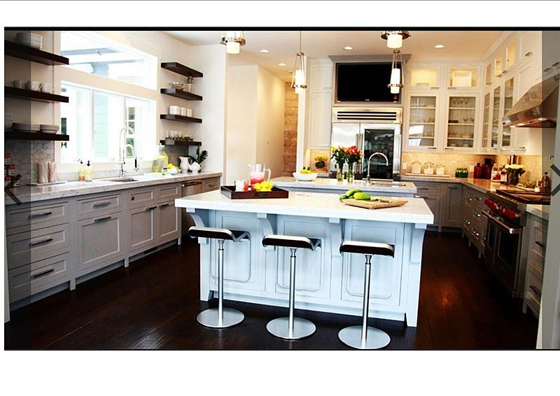 Jeff Lewis Kitchen Design With White Cabinet Interior Design   GiesenDesign