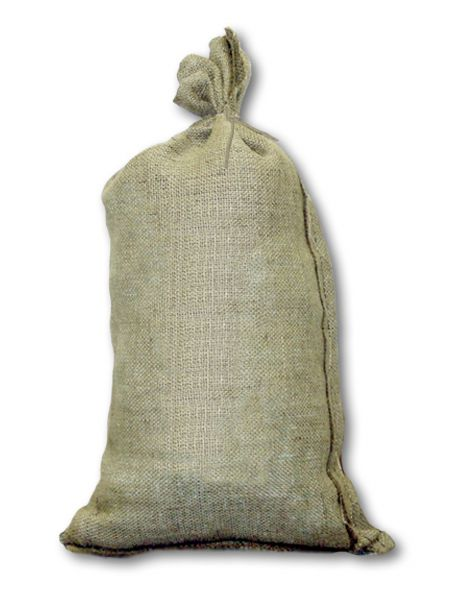 Our Standard 14 X 26 Plain Burlap Sandbag Holds 50 Pounds Of Sand Is