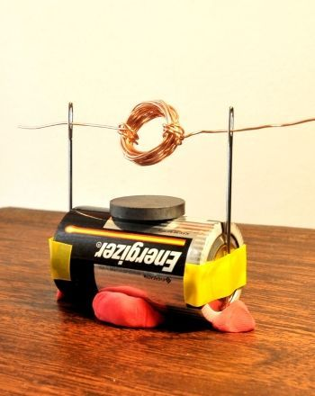 How to make a simple electric motor science fair for Electric motor science fair project