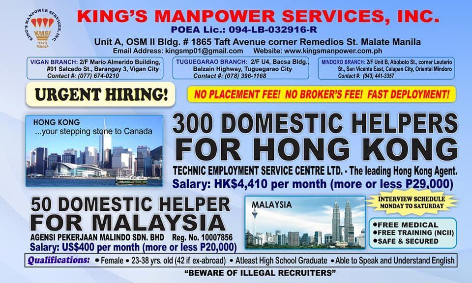 Domestic Helper Bound To Hong Kong Malaysia Malaysia Helper