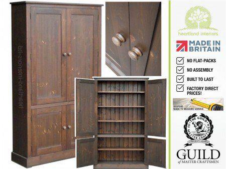 Contemporary 4 Door Pantry Linen Bathroom Kitchen Storage Cupboard CUP100