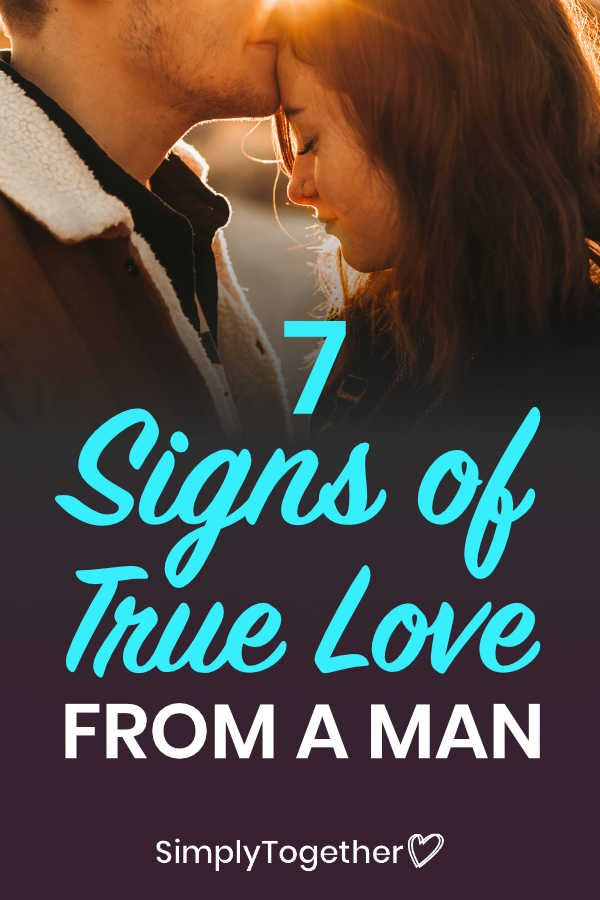 7 Signs Of True Love From A Man in 2020 | Signs of true