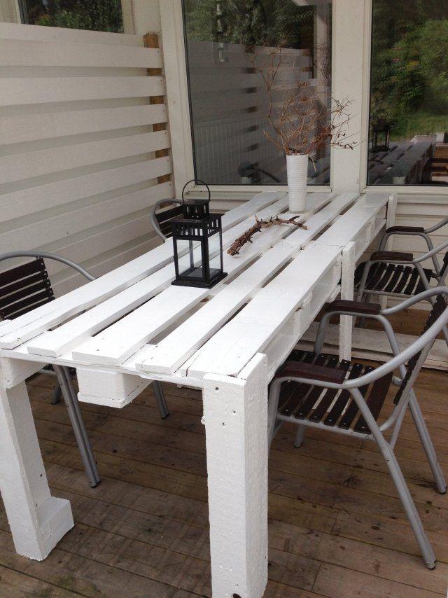 esstisch paletten ideen terrassenmöbel selber bauen | tisch, Garten und bauen