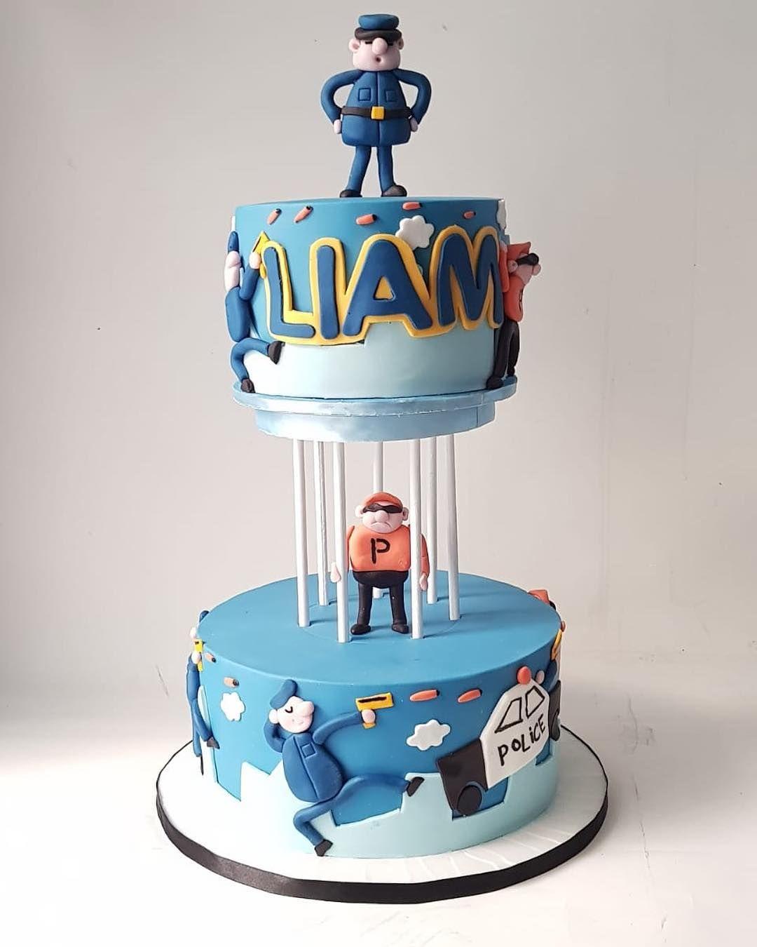 Policeman cake policemancake policeparty birthdaycake
