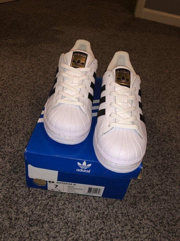 Women's adidas Original's Superstar Shoe C77153 White Size 7