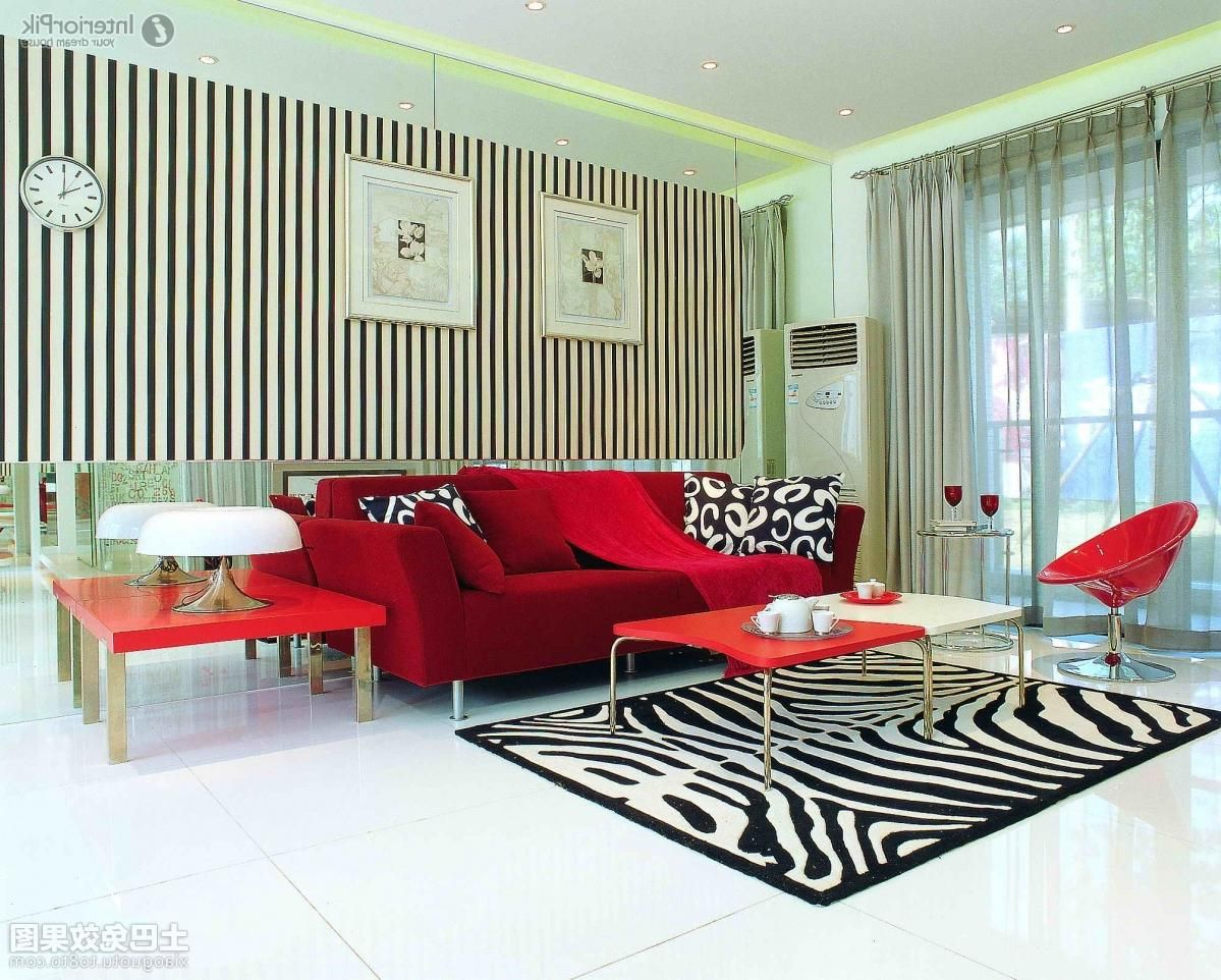 Sectional Red Sofa Set In Modern Living Room As Well Zebra ...