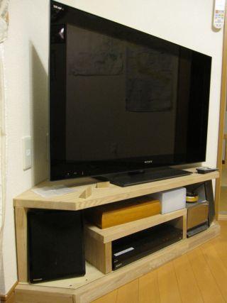 みやまま の気ままブログ テレビ台をdiy ようやく完成 テレビ台 完成 テレビ台 コーナー Diy Diy 家具 インテリア 一人暮らし