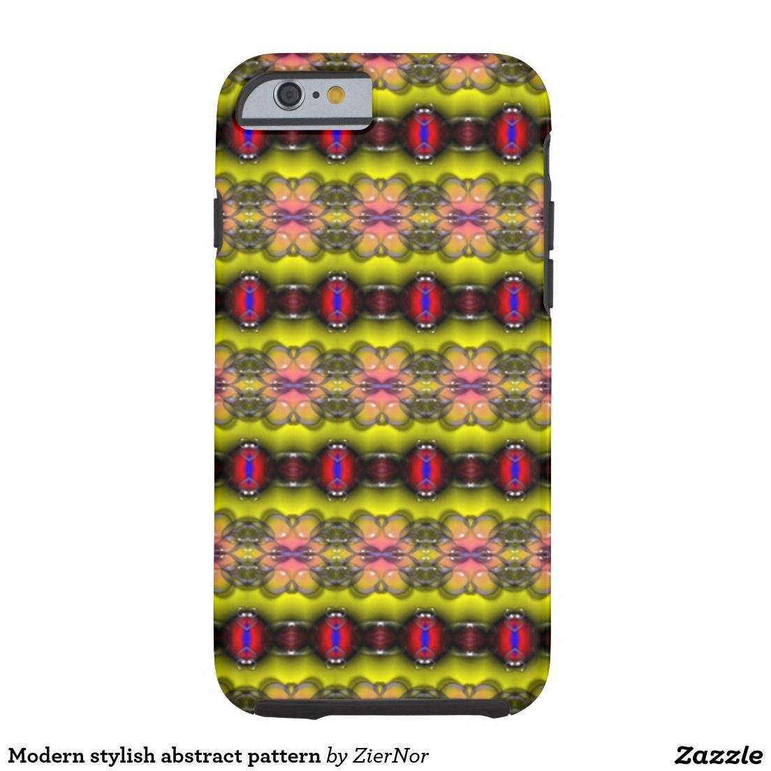 Modern stylish abstract pattern tough iPhone 6 case