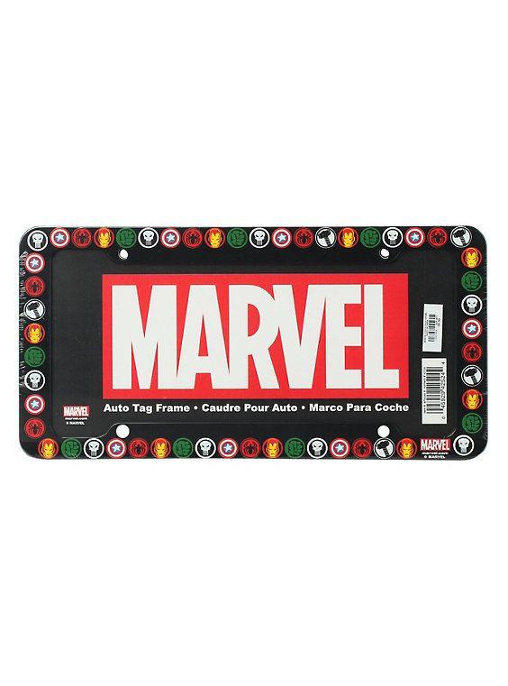The Punisher LOGO Black Plastic License Plate Frame