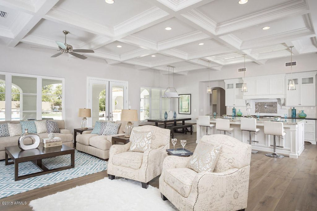 Traditional Living Room With Crown Molding Exposed Beam Cream Amusing Living Room W Decorating Inspiration