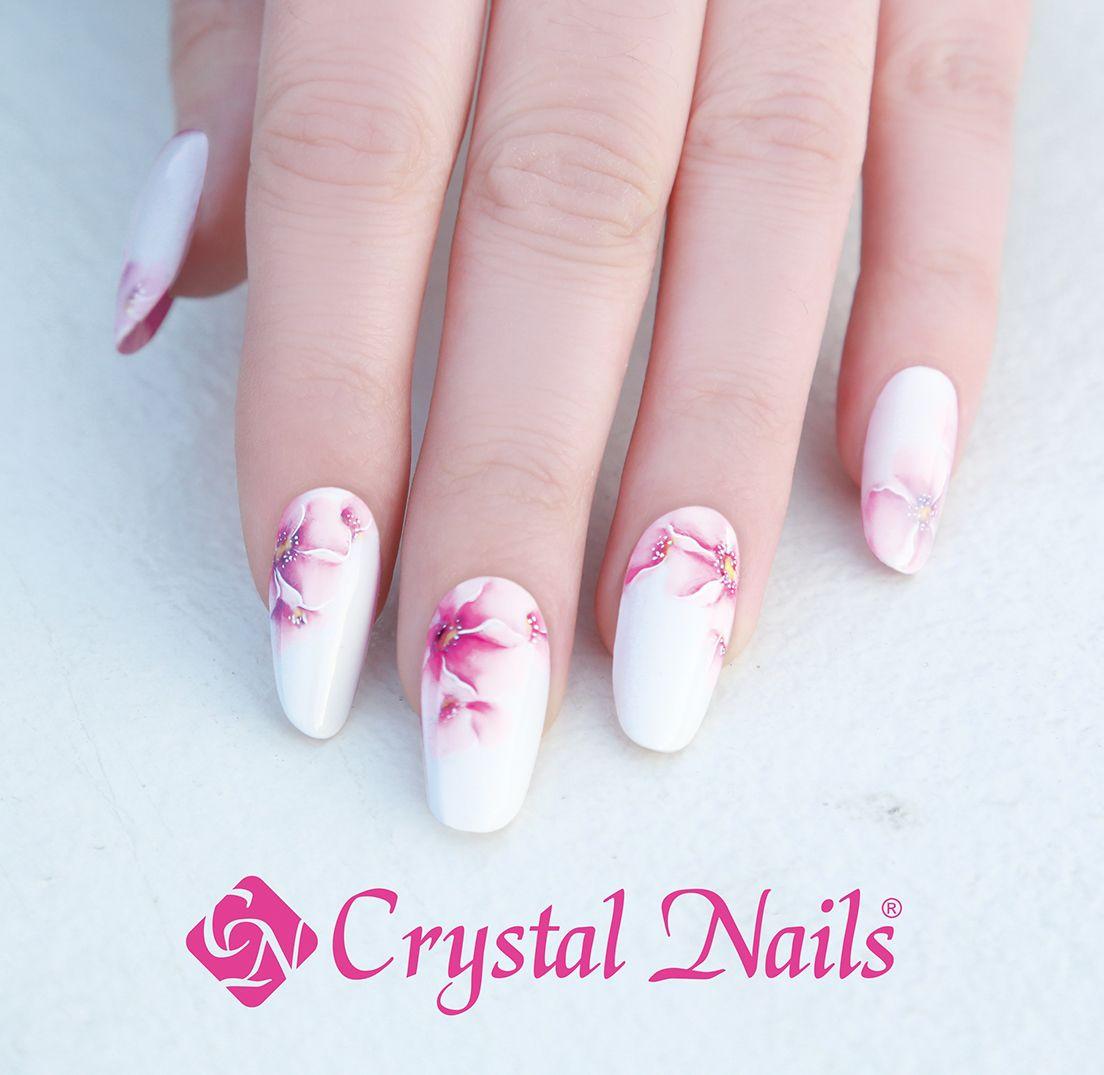 #gels #nails #crystalnails #spring #flowers
