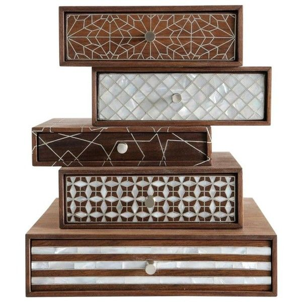 Stackable Boxes Home Decor Patchwork Boxesnada Debs Stackable Boxes With Motherofpearl