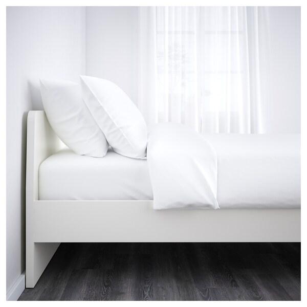 ASKVOLL Bed frame, white, Luröy, Full IKEA in 2020