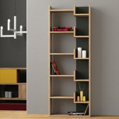 Zipcode Design Kara Bookcase Bookcase Modern Bookcase Global