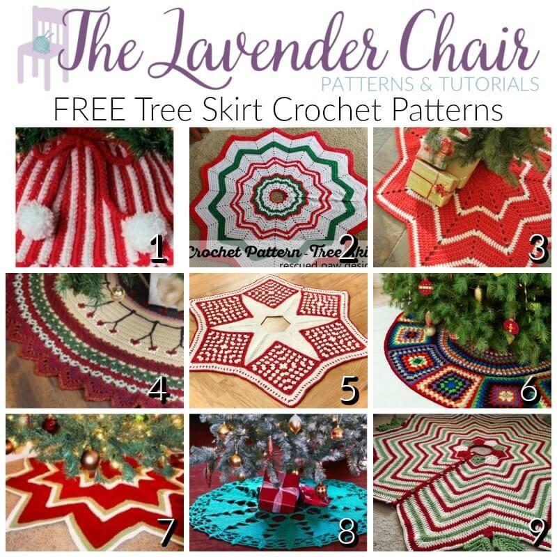 FREE Tree Skirt Crochet Patterns | Navidad y Tejido