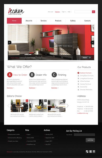 Modern Interior Design Wordpress Theme | Wordpress Sites for Clients ...