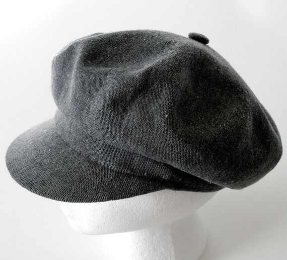 Vintage British News Boy Cap Womens Mens Hat Grey Size M by Kangol Made in Great Britain