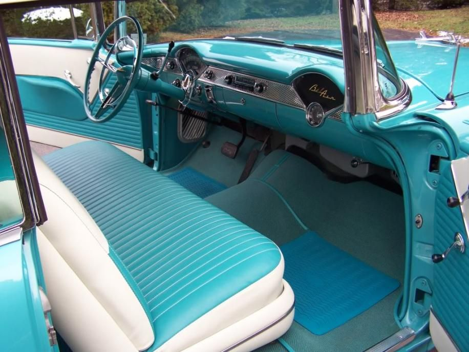 Interior Of A 1955 Chevy Bel Air Convertible I Love The Color 1955 Chevy 1955 Chevy Bel Air Chevy