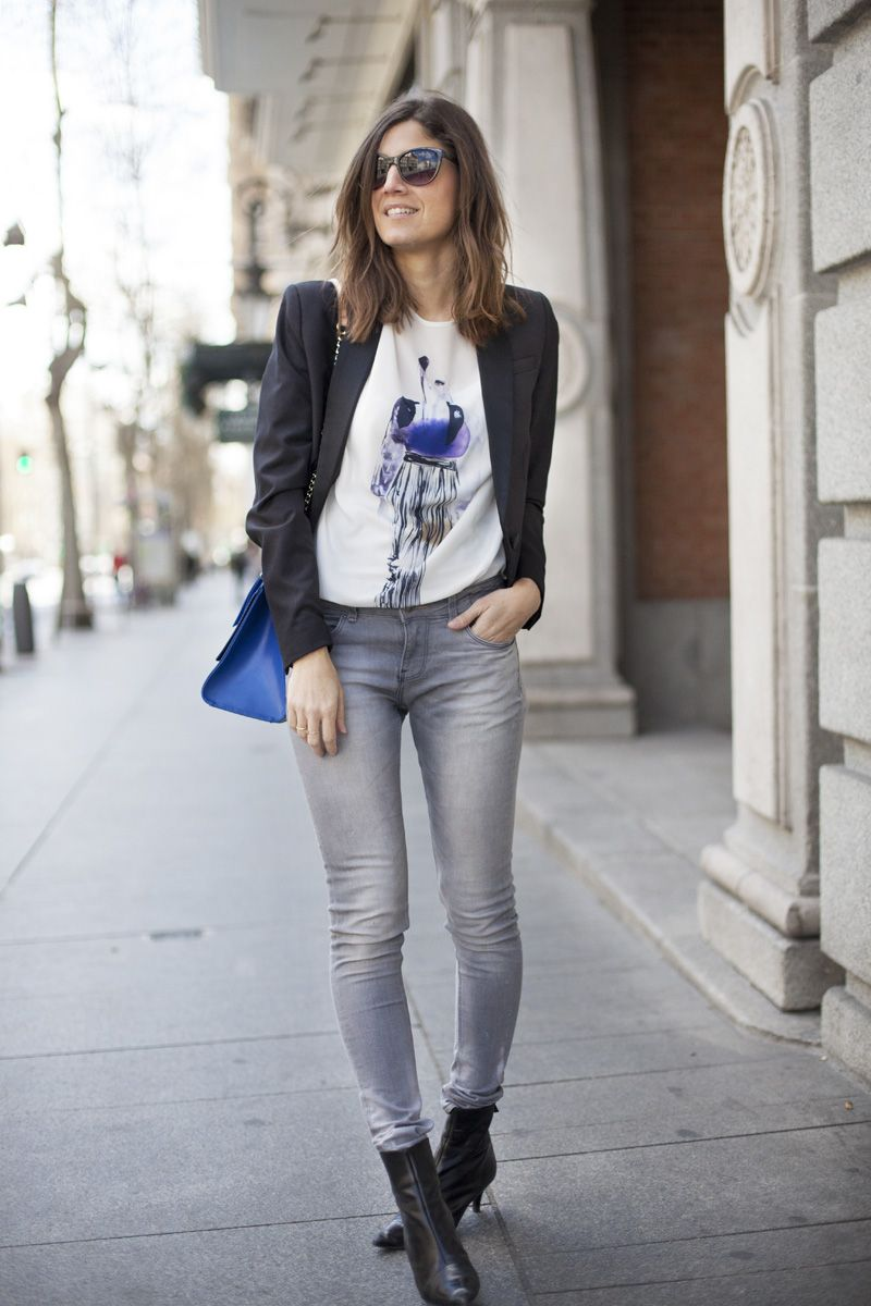 Look informal para un día de viernes. Casual friday. Street style outfits. Looks de street style. Fashion Blogger.