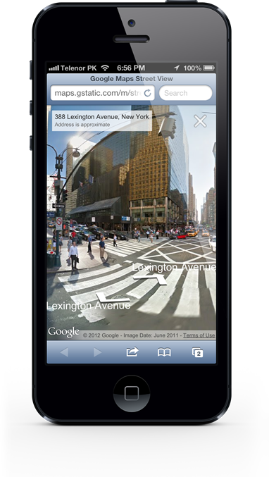 GOOGLE MAPS MOBILE WEB APP ADDS STREET VIEW FOR IOS AND