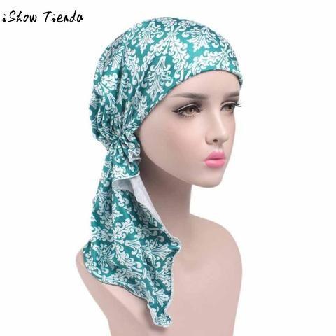 dfc9528844fa2 New Fashion Women Flower Printing Cancer Loog Chemo Hat Beanie Scarf Turban  Head Wrap Cap Beanie Cap Bandana Headscarf Gorro