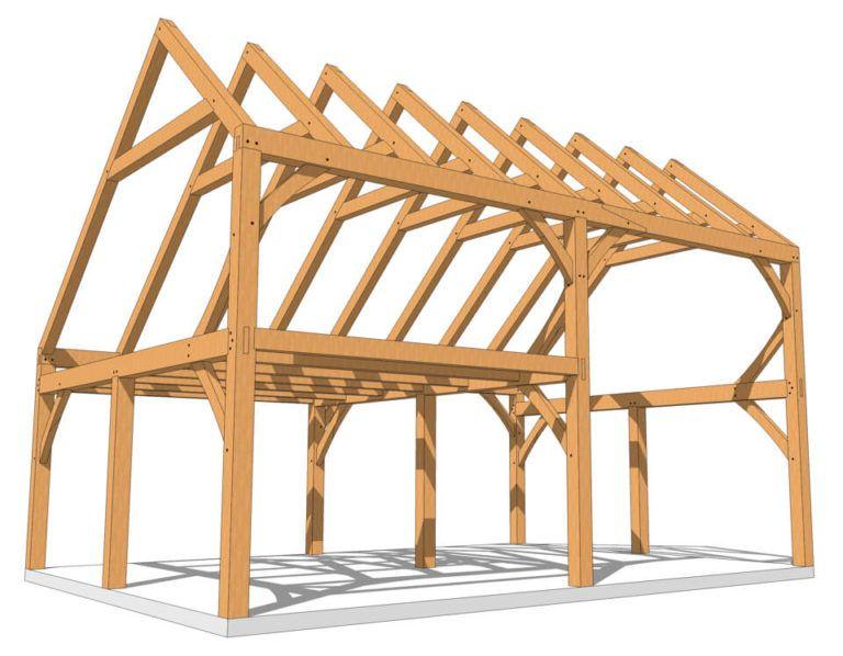 28x20 Saltbox Timber Frame Plan Timber Frame Plans Timber Frame Timber Framing