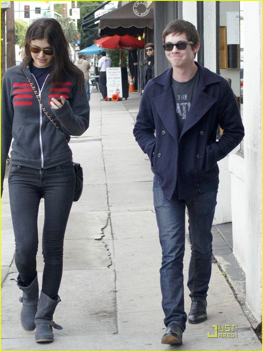 Logan Lerman & Alexandra Daddario: West Hollywood Lunch ...