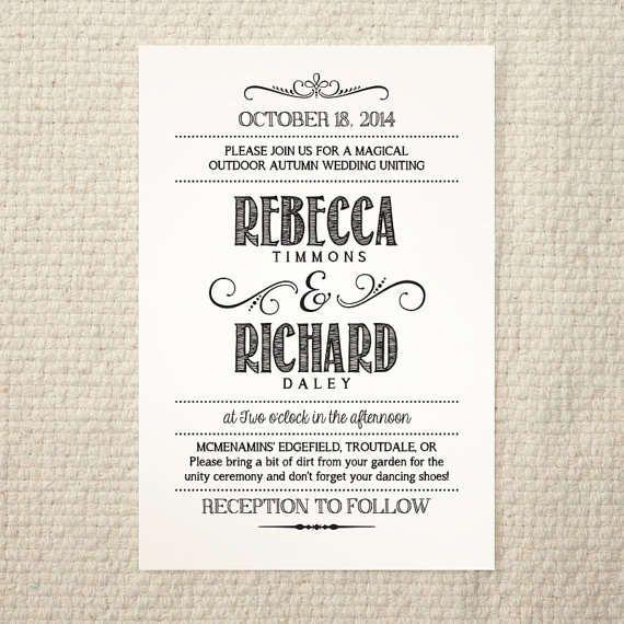 Homemade Wedding Invitation Template: Wedding Invitations Template Free