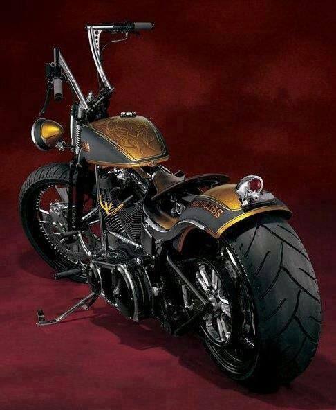 bike motorcycle black gold painting