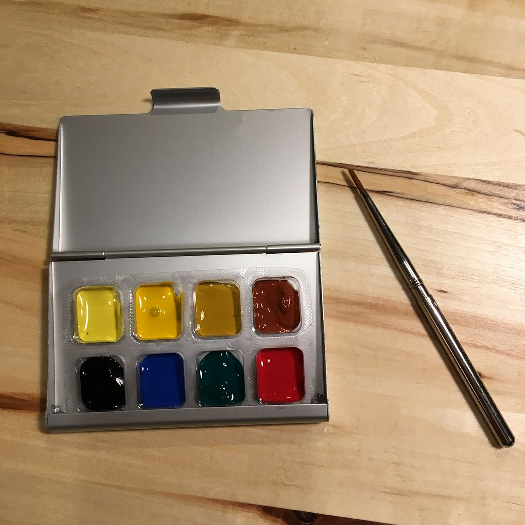Making Some Travel Watercolor Kits From Gum Mints And Business