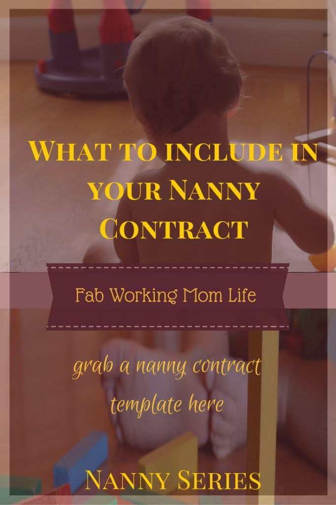 What Important Details To Include In A Nanny Contract  Nanny