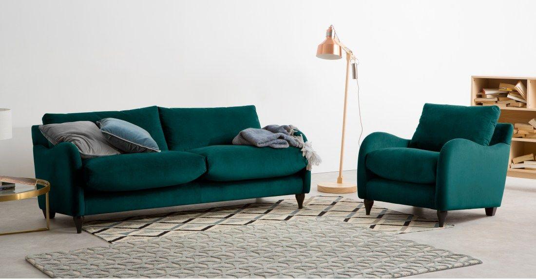 Exceptional Sofia 3 Seater Sofa, Plush Mallard Velvet | Made.com