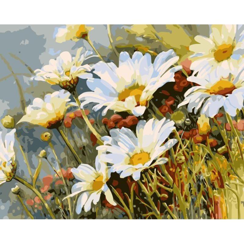 Peinture A Numero Sans Cadre Fleur De Chrysantheme Bricolage