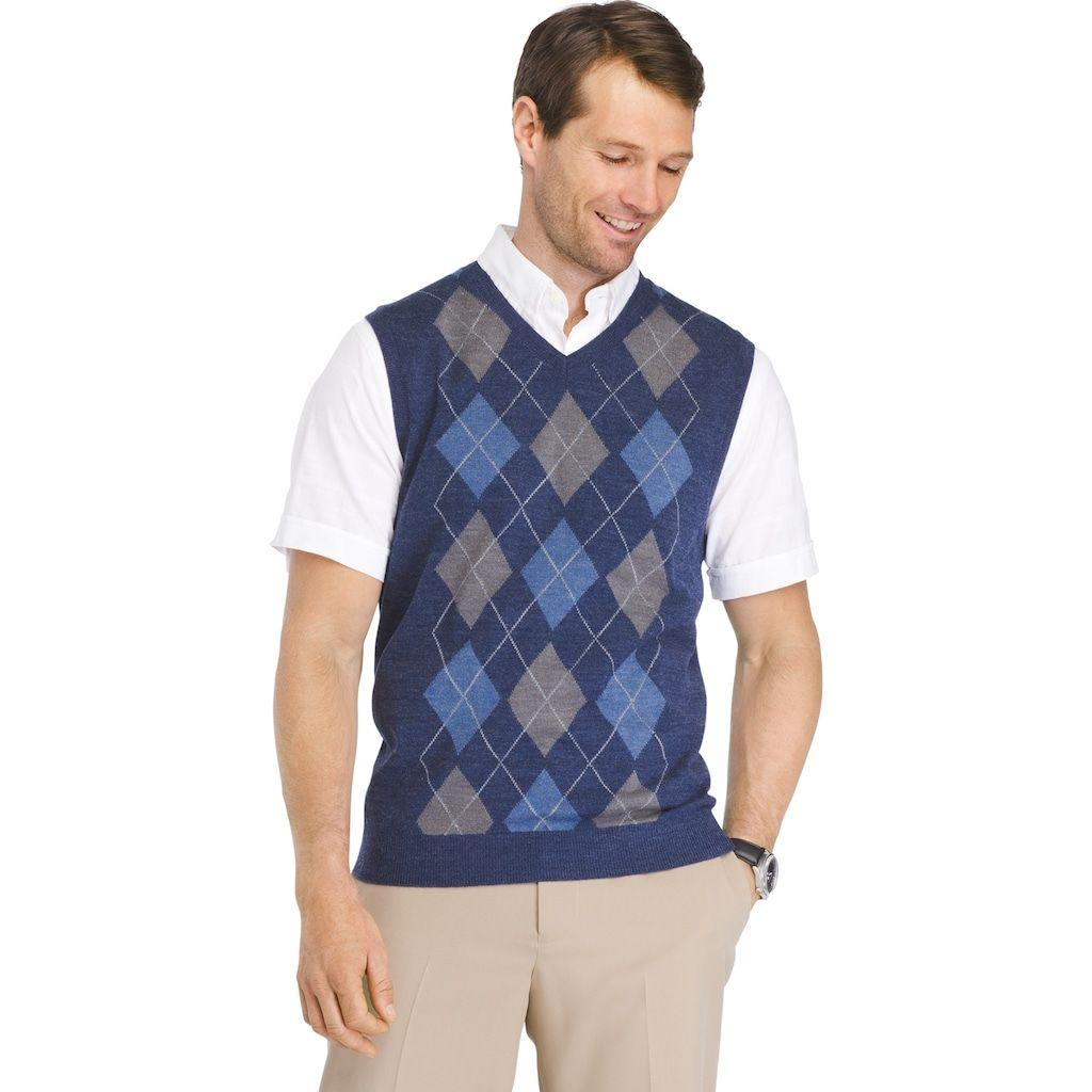 f7b35b712c81 Men s Van Heusen Classic-Fit Argyle Sweater Vest