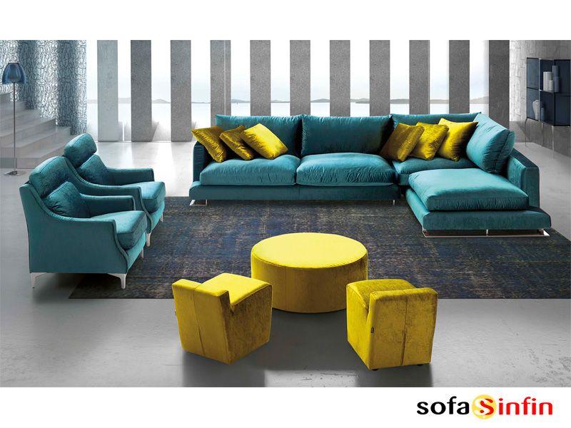 Sofá con chaise-longue modelo Channel fabricado por Divani Star en ...