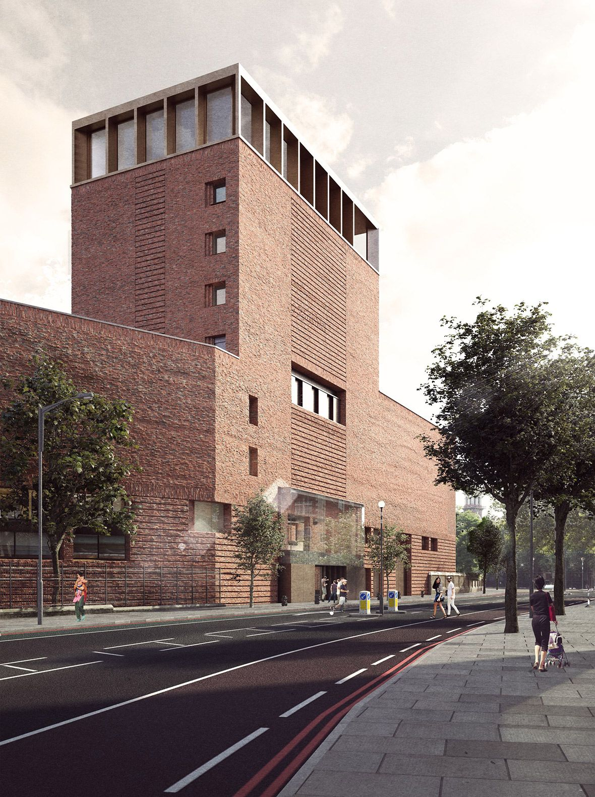 New Library Building From Lambeth Palace Road By Wright Wright