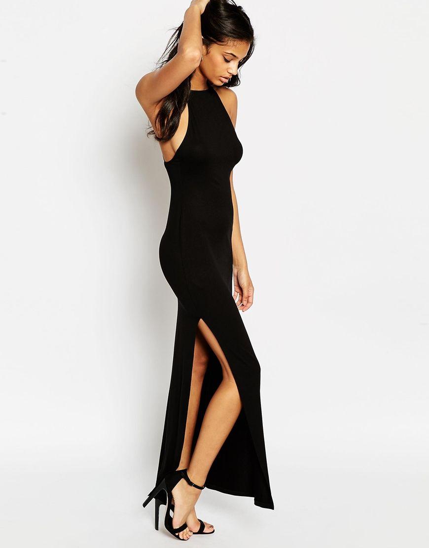 e2127d8419 ASOS High Neck Strappy Back Maxi Dress