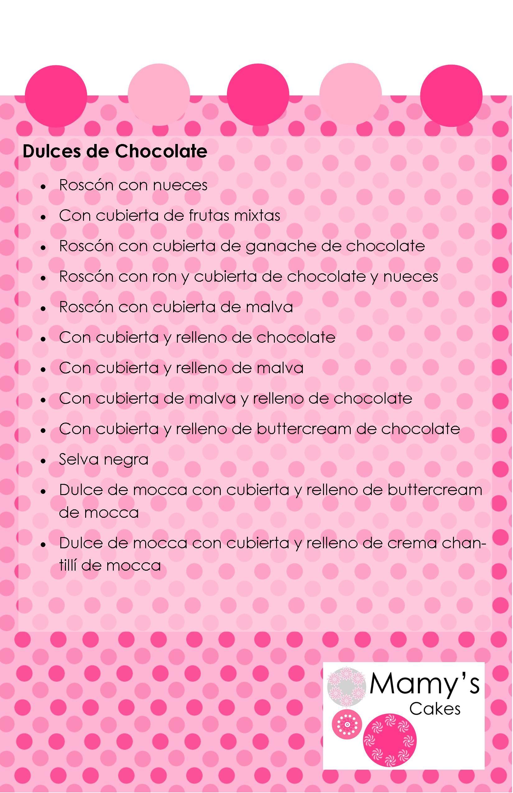 Dulces de Chocolate
