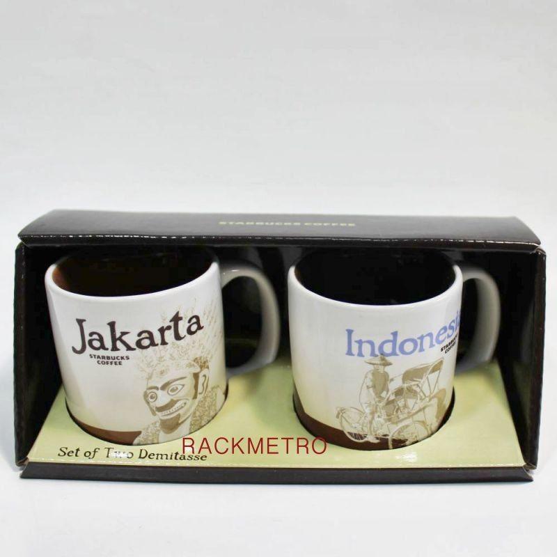 Starbucks Jakarta Indonesia Demi Cup Mugs Set Of Two 3 Fl Oz Mugs Starbucks Mugs Set