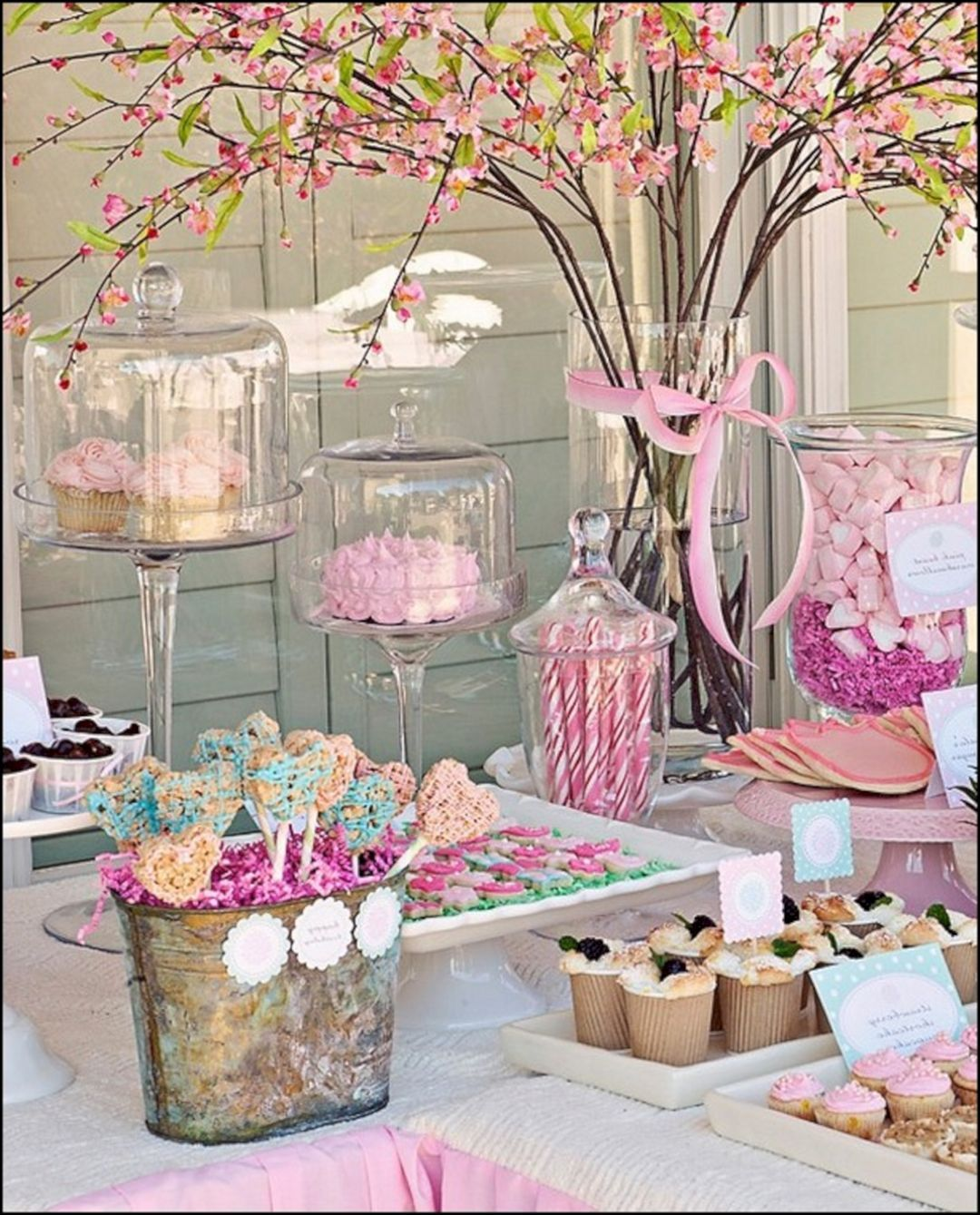 10 Beautiful Spring Decoration Ideas For Easy And Cheap Your Home Decoration Dexorate Garden Party Birthday Candy Bar Wedding 60th Birthday Party Decorations